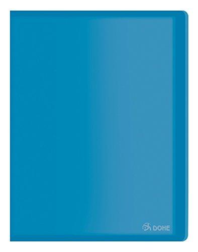 Dohe 91389Classeur en polypropylène avec 30pochettes Souple Bleu