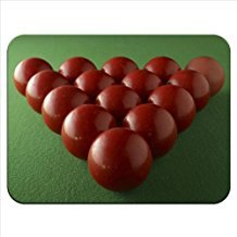 Rot Snookerkugeln Ready, hochwertiges Gummi Mauspad mit weicher Oberfläche zu brechen