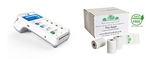 Pax A930 - Rollos tarjetas crédito sin BPA 50 rollos