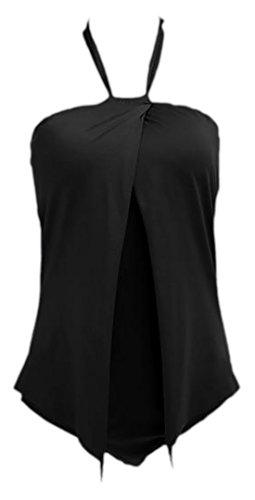 erdbeerloft - Damen Fashion Bat Badeanzug,  Schwarz