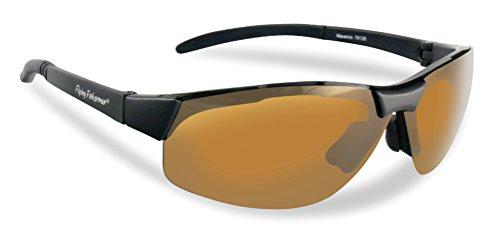 Flying Fisherman Maverick Polarized Sunglasses (Matte Black Frame, Herren, 7812BA, bernsteinfarbene Gläser, Einheitsgröße - Glas Maverick