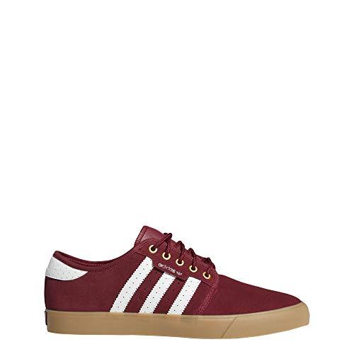 adidas Herren Seeley Skateboardschuhe, Rot (Buruni/Ftwbla/Dormet 000), 45 1/3 EU - Adidas Skate