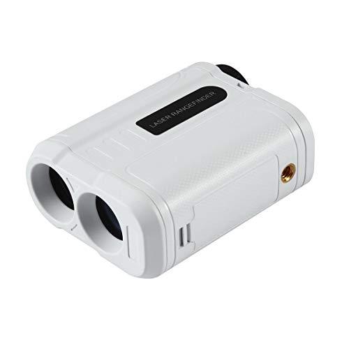 Golf-Entfernungsmesser, Laser-Entfernungsmesser mit Schrägung, Golfbahn Modus, Flaggenschloss und Distanz/Geschwindigkeit/Winkelmessung, präzise bis zu 565 Meter, ideal für Golf, Jagd, Rennsport weiß -