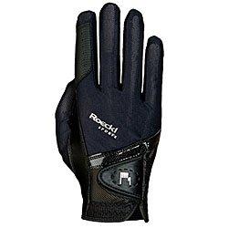 Roeckl Sports Handschuh Madrid, Unisex Reithandschuh, Schwarz, Größe 6,5
