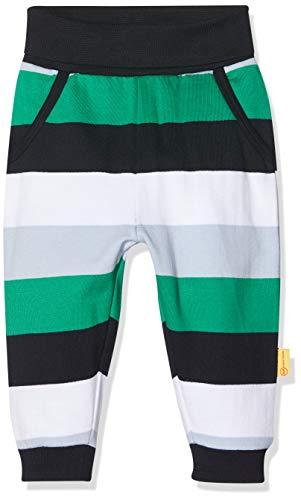 Steiff Baby Hose mit Blockstreifen und großen Taschen, Mehrfarbig (BLACK IRIS 3032), 80 (Herstellergröße:80)