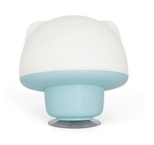 Silicone Sucker Lamp Sensitive Tap Control 7 Colores Fading Seleccionable Single Color Nursery Bedside Night Lamp Luz Ambiente Para Habitación De Bebé, Dormitorio, Comedor,Blue