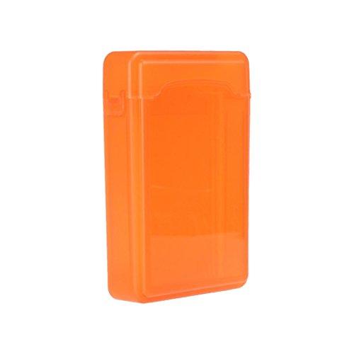 "MagiDeal 3.5\"" Laufwerk Festplattengehäuse stoßfest & Wasserfest Caddy Case Harddisk Enclosure HDD-Fall -Grün - Orange"