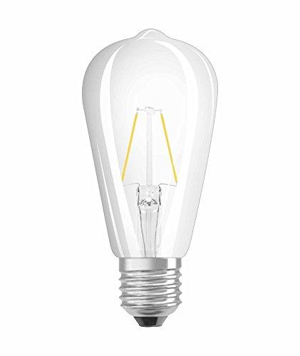 Osram LED Star Classic Edison Lampe, in Edison Form mit E27-Sockel, nicht dimmbar, Ersetzt 25 Watt, Filamentstil Klar, Warmweiß - 2700 Kelvin, 1er-Pack - Pro Style Wärmer