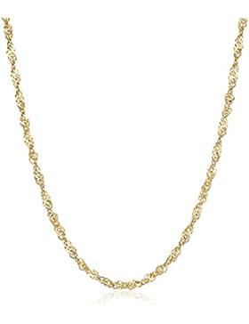 18 Karat / 750 Gold Singapur Kette Gelbgold Breite 1.80 mm Unisex Länge wählbar