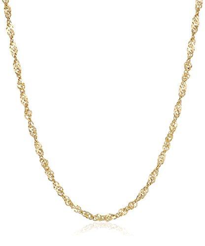 18 kt / 750 Gold Singapur kette Breite 2.20 mm Gelbgold , Länge wählbar (50) Männer 14k White Gold Halskette