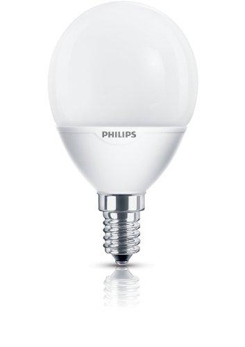 Philips Ampoule FluoCompacte Sphérique Culot E14 7 Watts Consommés Équivalence Incandescence : 35W