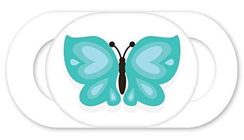 Zest Schutzhülle für Webcam, ultradünn, geeignet für Laptops, Tablets, Smartphones, Aqua Butterfly Online Privacy Protection. Bedruckte Designs -