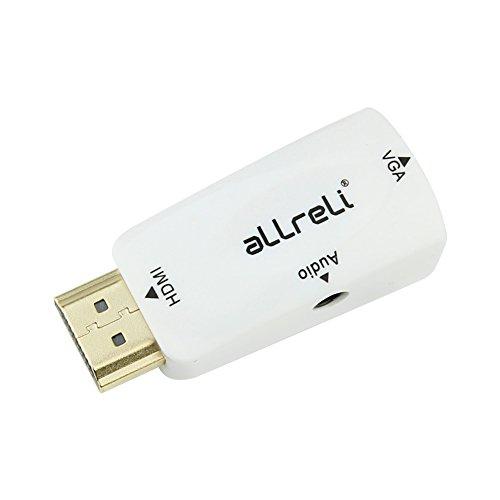 aLLreli Externe HDMI, mit Audio für PC Notebook auf VGA Monitor, Leistung-mit unterstützt Raspberry Pi zu VGA - Weiß - Tivo-usb-adapter
