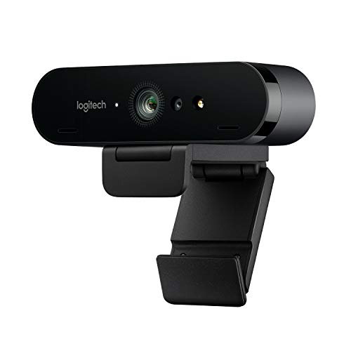 Logitech BRIO Webcam Ultra HD 4K per Streaming, Videoconferenze e Registrazione per Windows e Mac, Home, Nero
