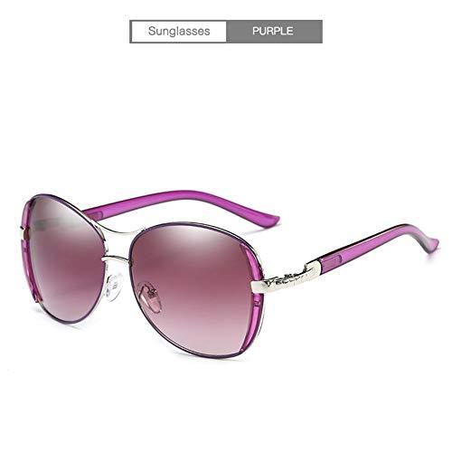 YongFeng Verspiegelte Sonnenbrillen der Frauen Big Frame Fashion Sunglasses Driving Glasses JF (Color : Purple)
