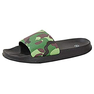 Strong Souls Boys Camouflage Lightweight Sliders Green UK 2