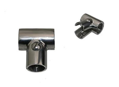 Reling Relingbeschlag T Stück 90° klappbar Edelstahl A4 22mm ARBO-INOX