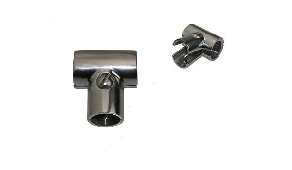 Schelle Rohrschelle T-Verbindung 90/° gestanzt Edelstahl A4 22mm ARBO-INOX