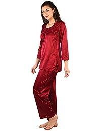 9cbfe2d7ed Satin Women s Sleep   Lounge Wear  Buy Satin Women s Sleep   Lounge Wear  online at best prices in India - Amazon.in
