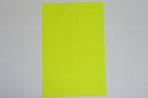 WKS Leuchtpapier NEON gelb DIN A2, 90g/qm 100 Bogen tagesleuchtfarben einseitig
