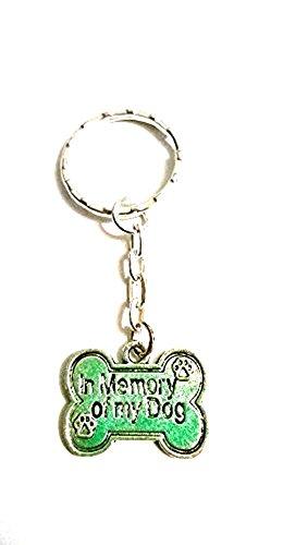 In Memory Of My Dog Schlüsselanhänger ~ I LOVE MY DOG Andenken ~ Memorial ~ Haustier ~ Verlust, silber -