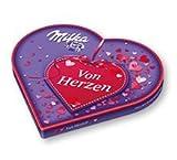 I Love Milka Valentinstag Liebesherz mit Pralinen, 1er Pack (1 x 187g)