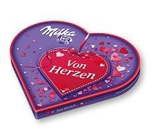 Preisvergleich Produktbild I Love Milka Liebesherz mit Pralinen,  1er Pack (1 x 187g)