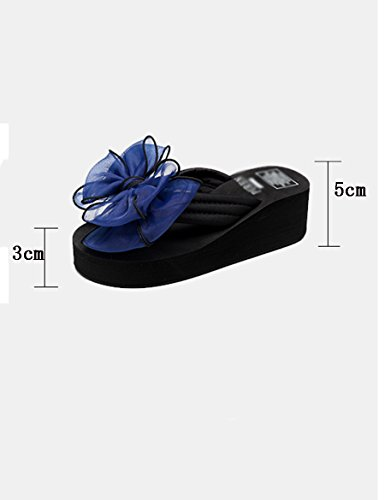 Anello di mare estivo scivola Pendenza femminile con pantofole alto Scarpe fredde casual di sabbia fredda ( Colore : 5 , dimensioni : EU40/UK7/CN41 ) 1
