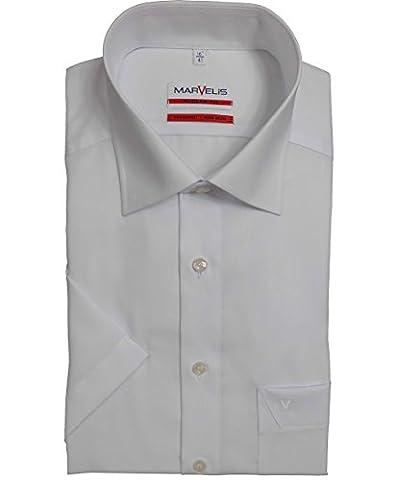 Kurzarmhemd, weiß, Slim/Modern Fit Gr.40