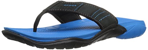 crocs Herren Swiftwaterflipm Pantoffeln, Blau (Ocean/Black), 42-43 EU