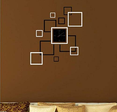 GMK Home Modern Decoration Crystal Mirror Sticker Quartz Wall Clock