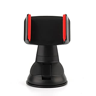 AMALINK Car Mount, Universal Car Phone Holder Mount Cradle Windshield Strong Sticky Gel 360 Degree Rotation Cell Phone