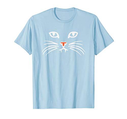 Katzen-Gesicht Fangs Halloween Für Katzen-Kätzchen Kitty T-Shirt
