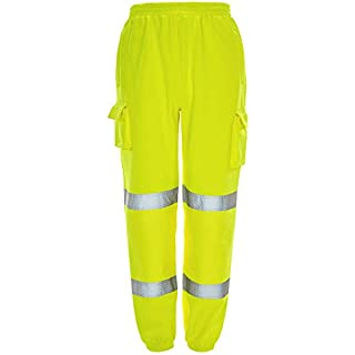 Army And Workwear  Herren Arbeitshose Gr. XXL 40-44 Taille, Yellow - EN471:2003 + A1:2007 Class 1