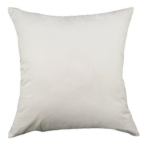 Fodera per cuscino quadrato/rettangolo di colore Candy ChezMax cotone Throw Pillow Case Sham Slipover Pillowslip Federa per la casa divano letto sedia sedile posteriore, White, 22*22''WITHOUT FILLER
