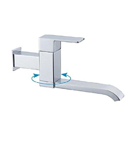 AMZH Küchenarmatur Vollkupfer in die Wand Einzelkalt Wasserhähne Verlängerter Balkon Mop Pool Waschküche Waschbecken Wasserhahn
