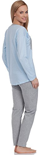 Italian Fashion IF Damen Schlafanzug Alex 0223 Blau/Melange