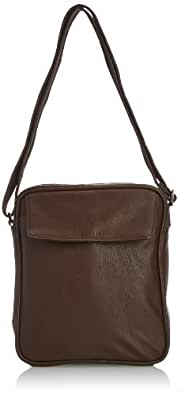 Esprit Mens Evan Tablet City Messenger Bag 054EA2O010 Chocolate Brown