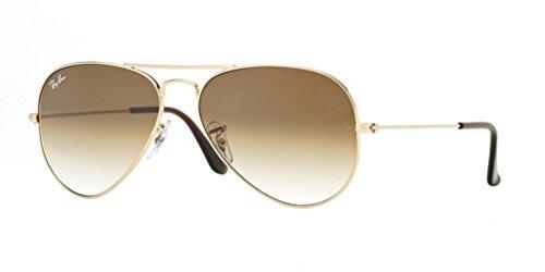 RAY BAN Aviator Rb3025 001/51 Sunglasses - Arista Gold/brown (62mm)