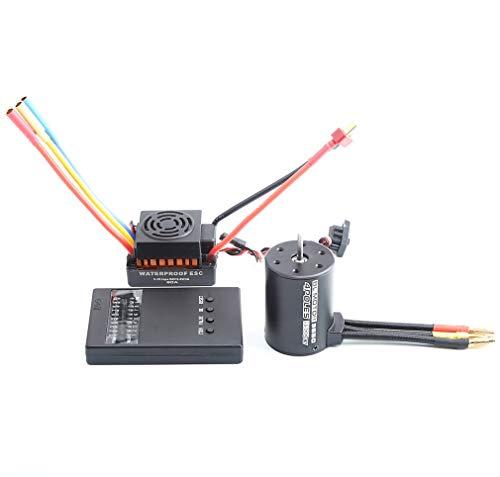 Manalada® 3650 3900KV RC Auto Brushless Motor wasserdichte 60A ESC Programmer Kartensatz -