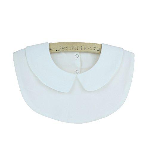 Hippolo Damen Kragen Hälfte Shirt Bluse Top Vintage Elegant Abnehmbare Blusenkragen Shirtkragen Topkragen (Stil (Tails Doll Kostüme)