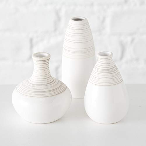 tts 3er Set Keramik weiß/beige H10-13 cm ()