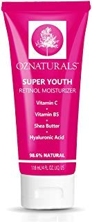 OZ Naturals Hydratant Rétinol - Meilleur Anti-Âge, Crème Anti-Ride Rétinol, 98% Naturel, 4 Onces Liquides.