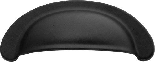 Hickory 2 Schublade (Hickory Hardware p2626-mb 2-3/4-Zoll-Modus Cup Schrank Pull, matt schwarz)