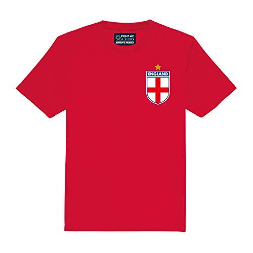 Print Me A Shirt Kids Anpassbar England Stil Fußball Shirt Away, Rot, 9-11 Yrs 32