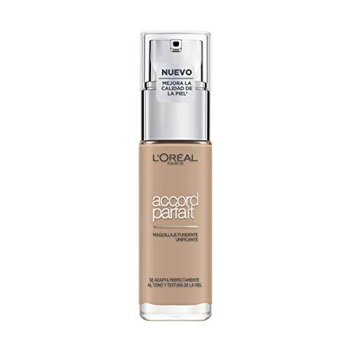 L'Oréal Paris Make-up designer Accord Parfait, Base Maquillaje Acabado Natural, Tono Medio...