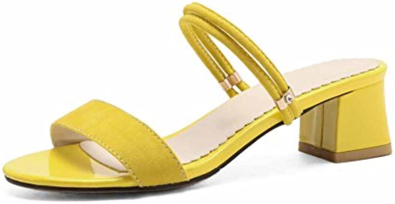SHINIK Femmes  s en daim daim daim d'été Nouveau Mules à talons bas Mode T-Strap Chaussures NoirB07DGLQC8RParent | Up-to-date Styling  | Une Performance Fiable  4f0b21