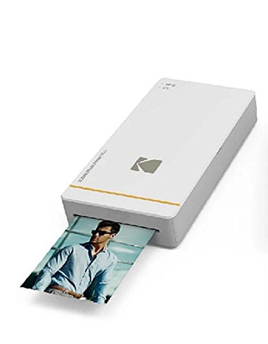 Kodak KPM-210W Photo Printer Mini für Apple iPhone und Android weiß
