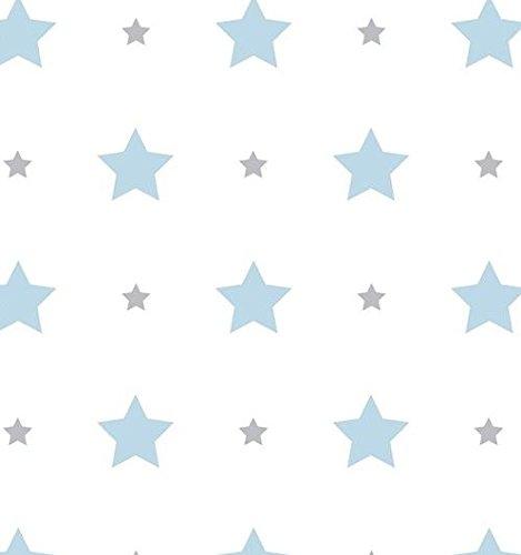 carta-da-parati-camerette-bambini-con-stelline-fondo-bianco-e-stampa-azzurro-e-grigio-584-1-treboli