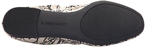 Nine West Girlsnite Ballet Synthetic Flat Off White/Black